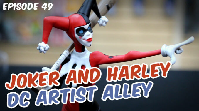 close-up of Harley DC Artist Alley figure