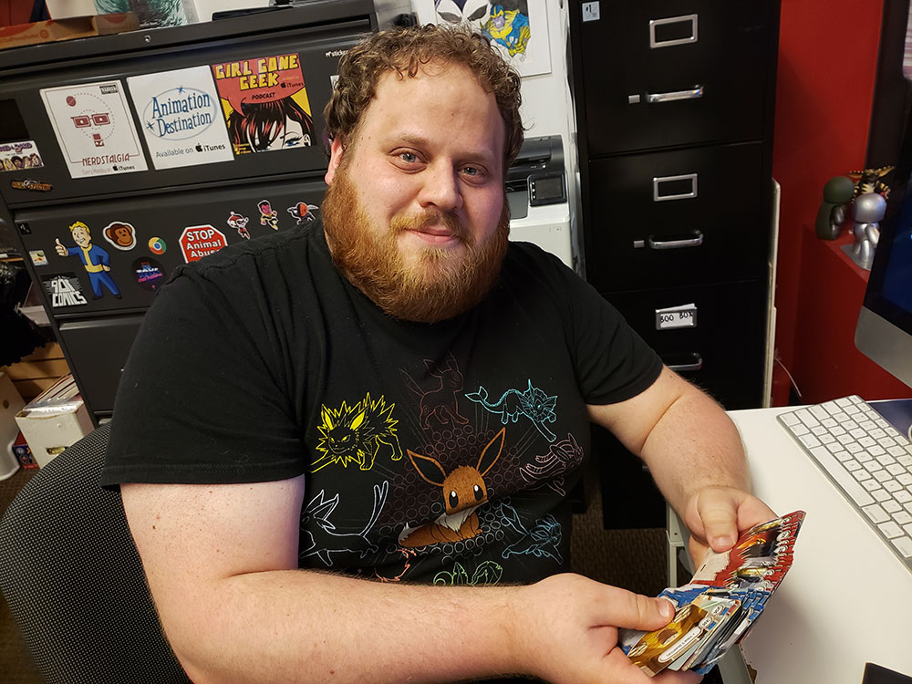 Hunter with Star Wars Destiny cards